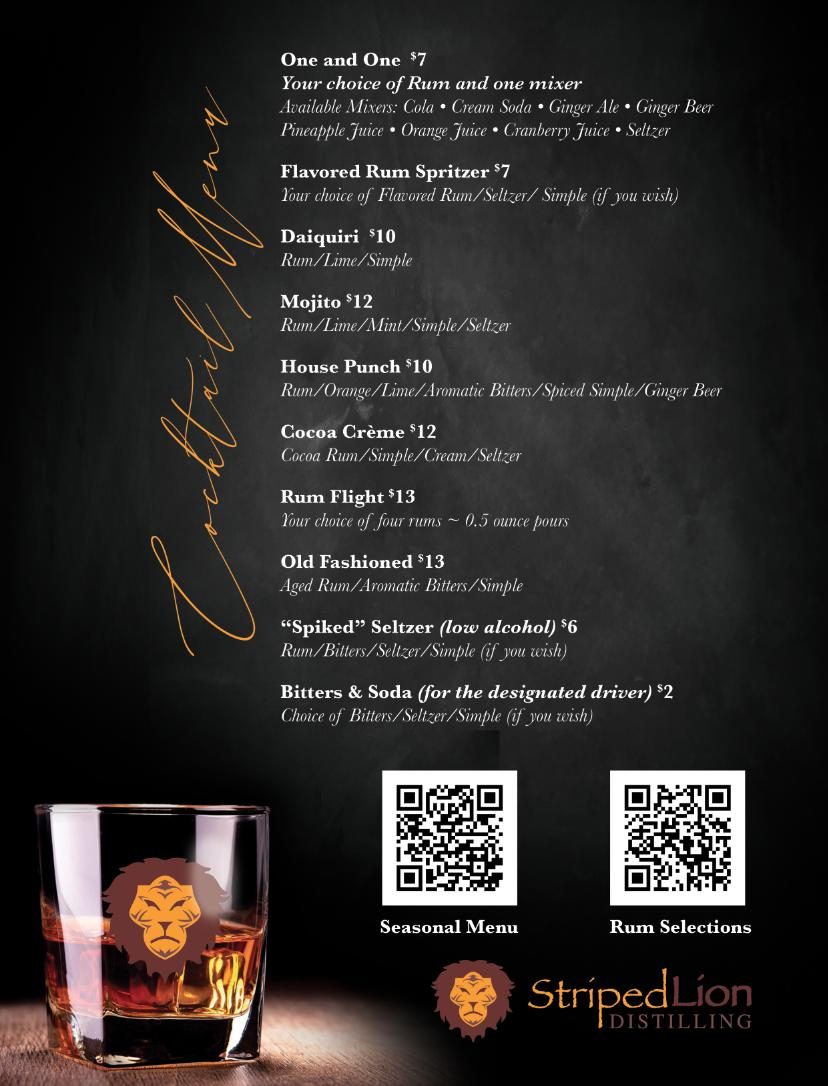 Cocktail Menu Feb 2021